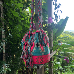 Mochila Hot Pink/Turquoise Diamond Design-Jenstones Jewelry