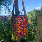 Load image into Gallery viewer, Mochila Orange/Blue Zig Zag-Jenstones Jewelry