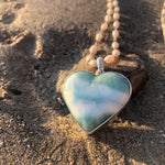Load image into Gallery viewer, Larimar Heart Pendant Large-Jenstones Jewelry