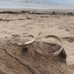 Load image into Gallery viewer, Large Silver Hammered Hoops-Jenstones Jewelry