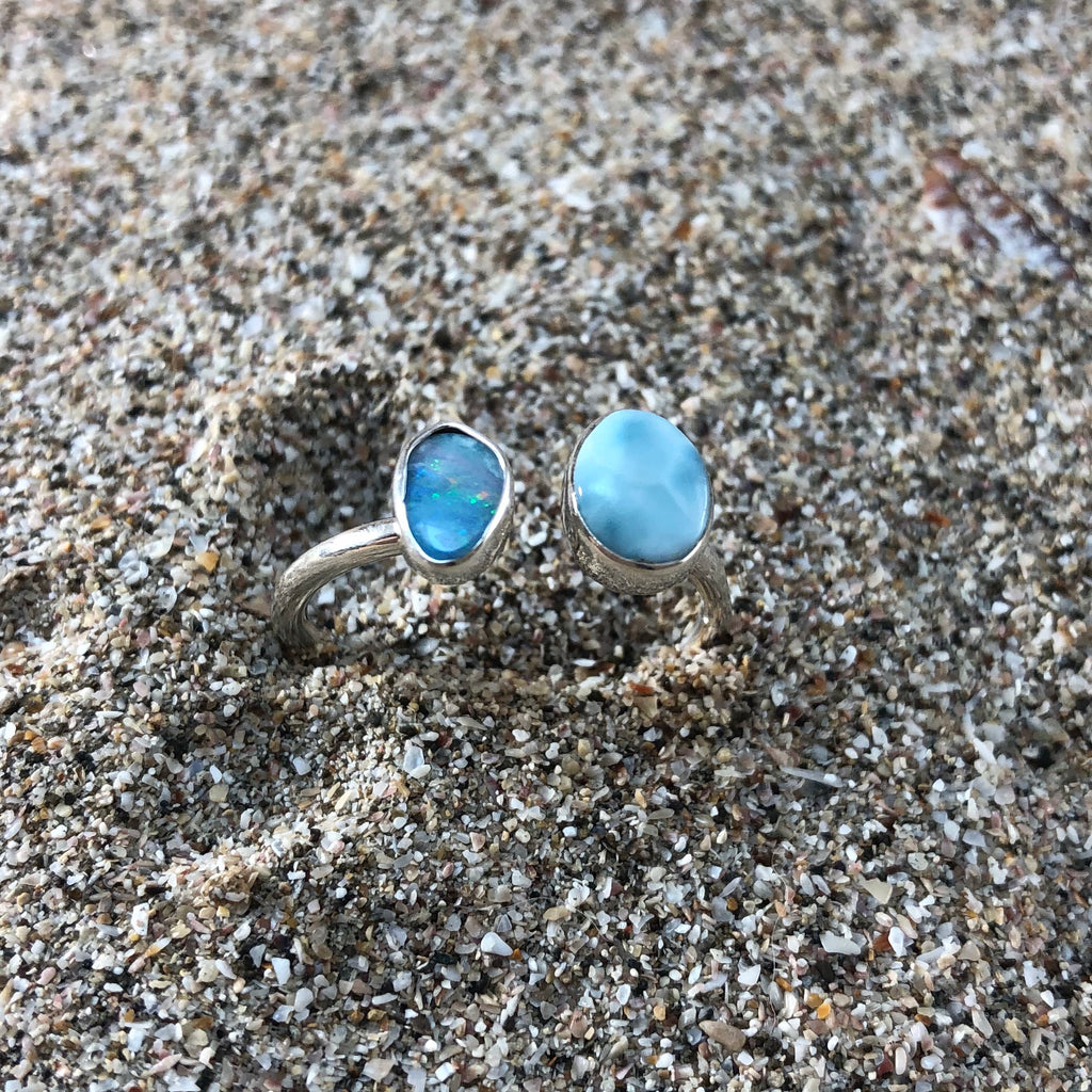 Opal Larimar Wrap Ring-Jenstones Jewelry