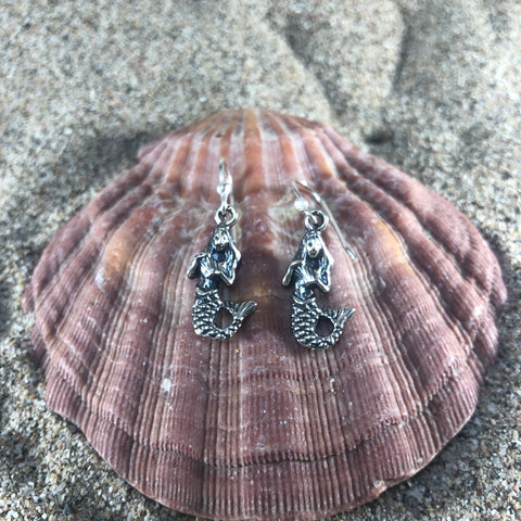 Mermaid Earrings Sterling