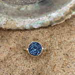 Load image into Gallery viewer, Ring Sterling and Deep Blue Druze Petite-Jenstones Jewelry