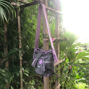 Mochila Purple, Gray Large Design-Jenstones Jewelry