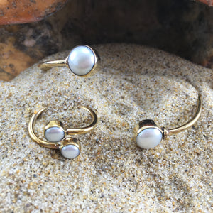 Bronze Wrap Ring White Pearl-Jenstones Jewelry