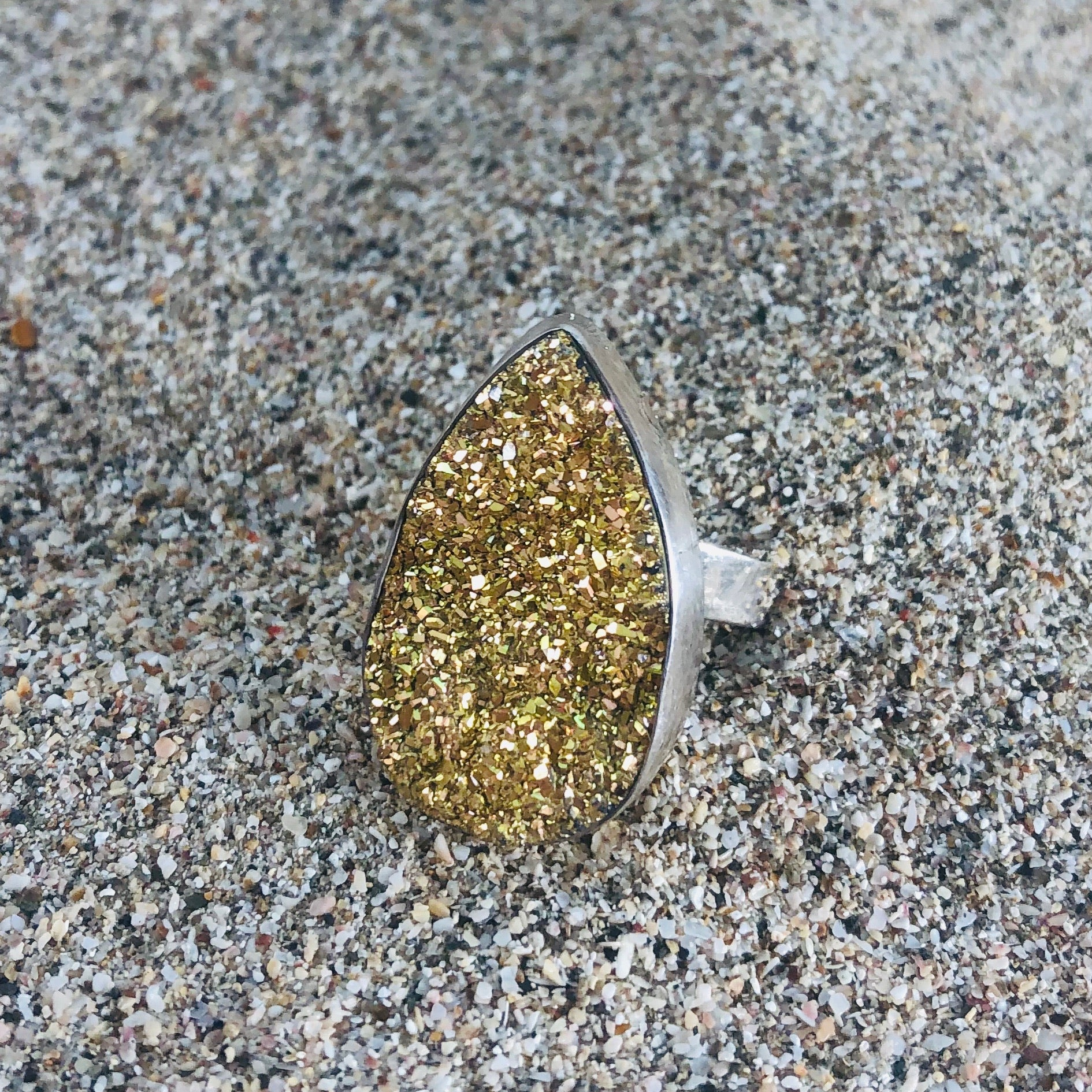 Druze Golden Ring-Jenstones Jewelry