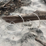 Load image into Gallery viewer, Open Wave Hoops Sterling Silver-Jenstones Jewelry