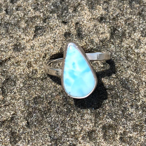 Larimar Tear Ring