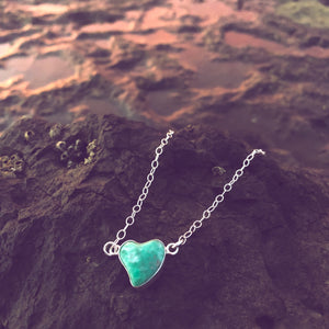 Emerald Heart Necklace-Jenstones Jewelry