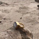 Load image into Gallery viewer, Herkimer Diamond Bronze Ring-Jenstones Jewelry