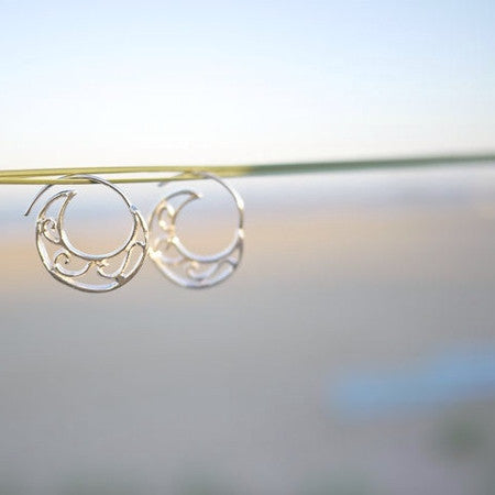 Hoop Earrings Rolling Wave Sterling