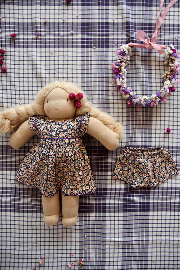 Bonjour Doll Dress + Panty Set