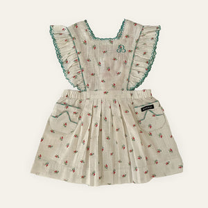 Bonjour Apron Dress - Small Flowers
