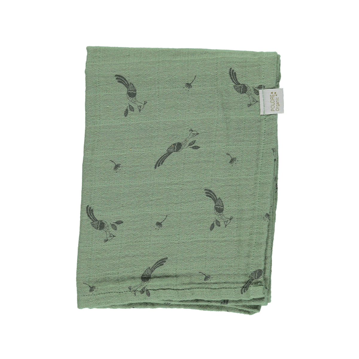 Poudre Organic Scarf Menthe, oil green