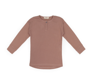 Phil & Phae Rib Henley Top, Powder