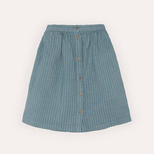 Yellow Pelota Stripes Skirt, blue sky