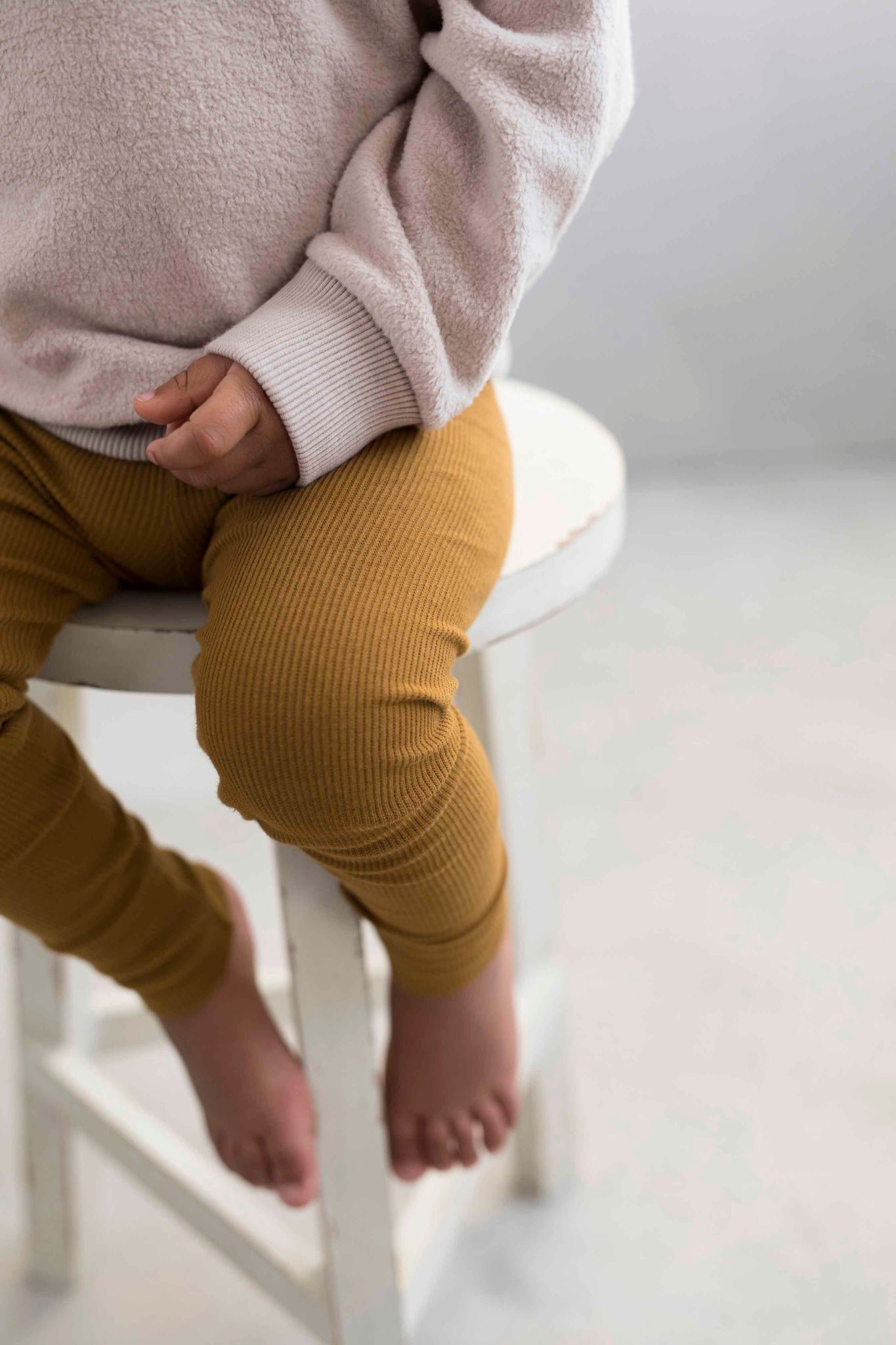 Phil & Phae Rib Leggings, Golden Olive