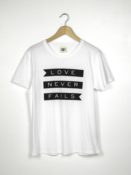 Love Never Fails - Ethical Organic Cotton Men's T-Shirt