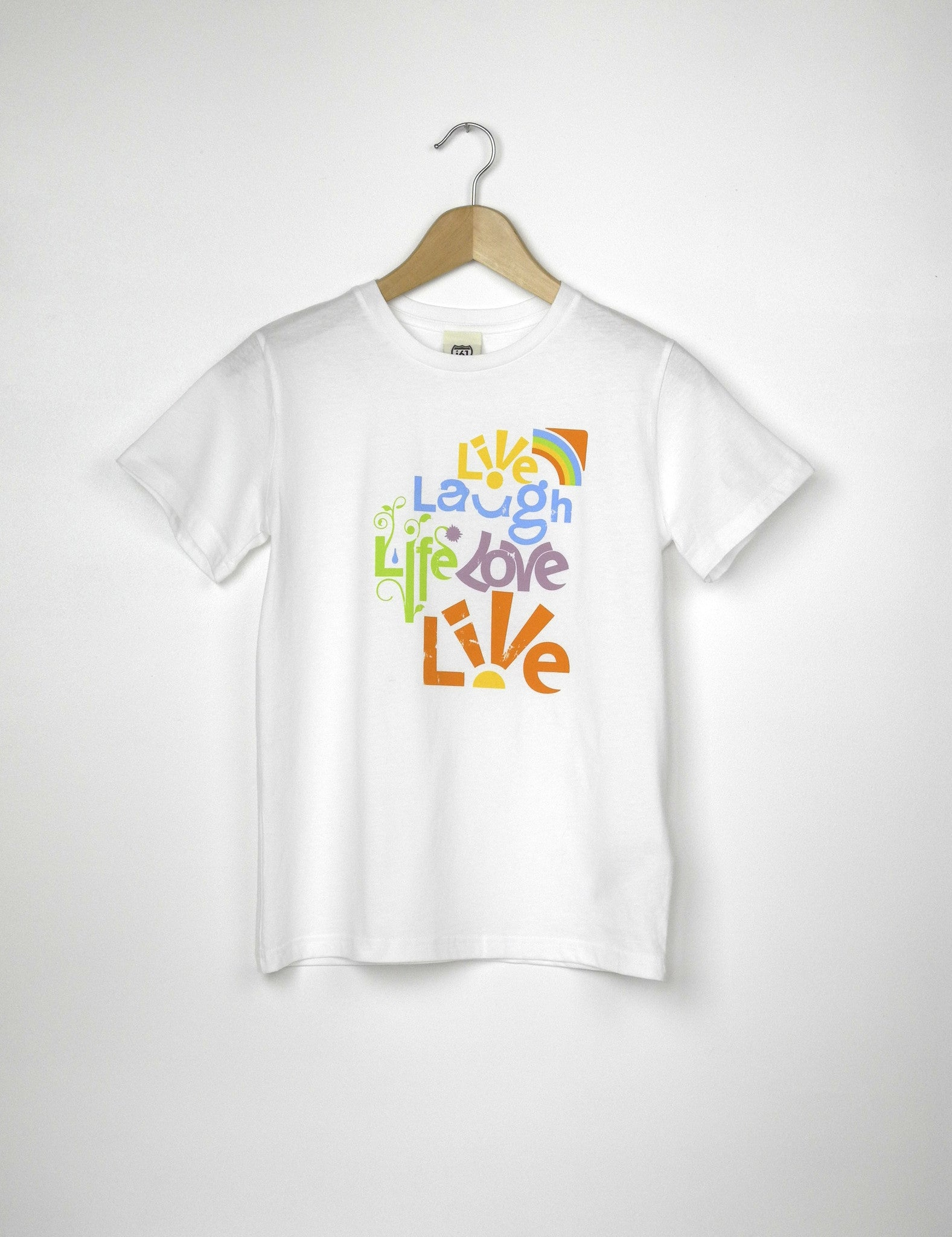 Live Laugh Love - Ethical Organic Cotton Girl's T-Shirt