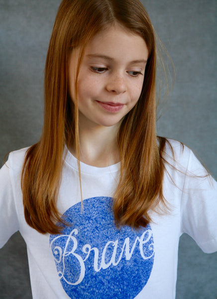 Brave -  Ethical Girl's Organic Cotton T-Shirt