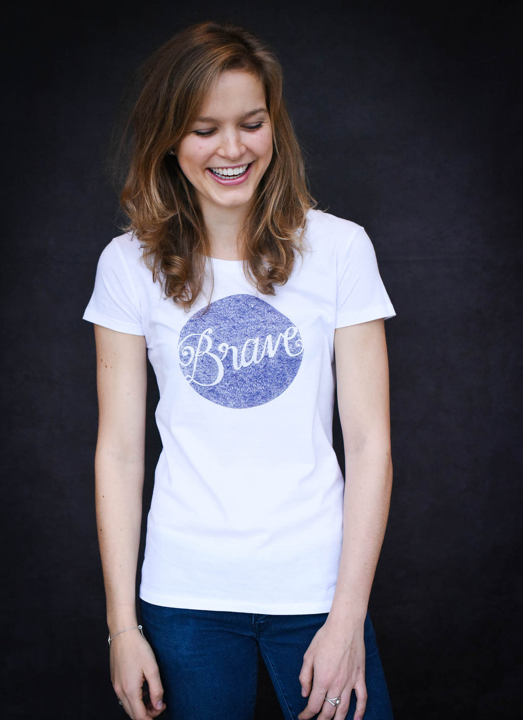 Brave - Ethical Organic Cotton Fitted  Women's T-Shirt