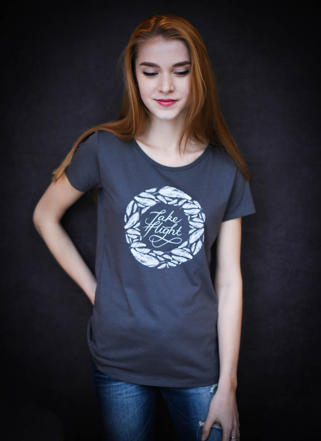 Take Flight - Ethical Organic Cotton Modal 'Drape' Women's T-Shirt
