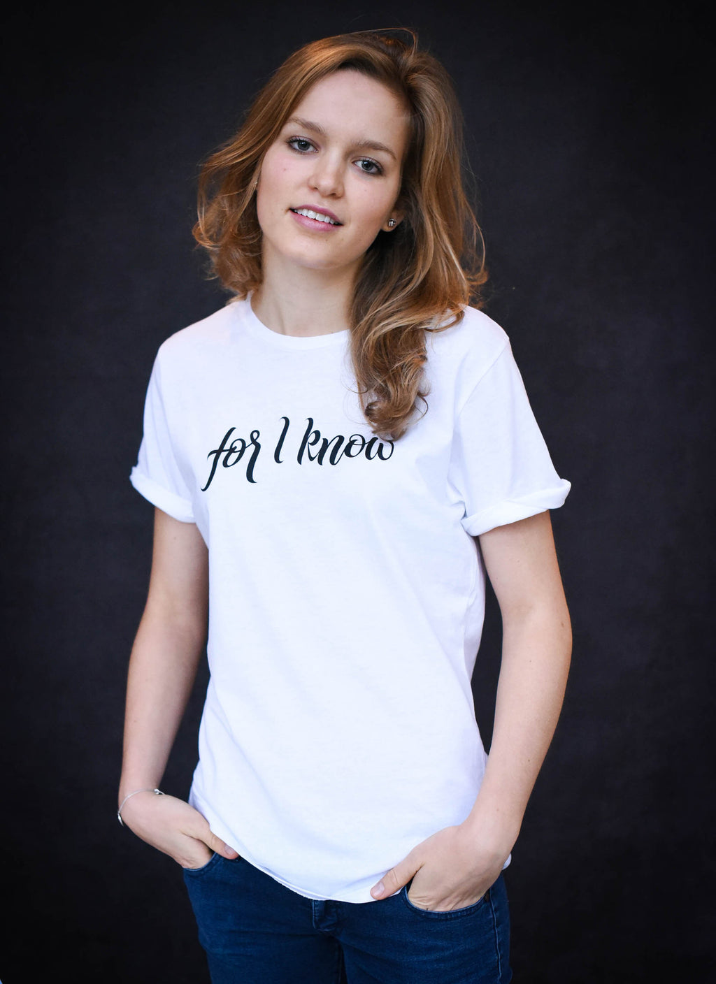 For I Know - Ethical Organic Cotton Rolled Sleeve Women's T-Shirt