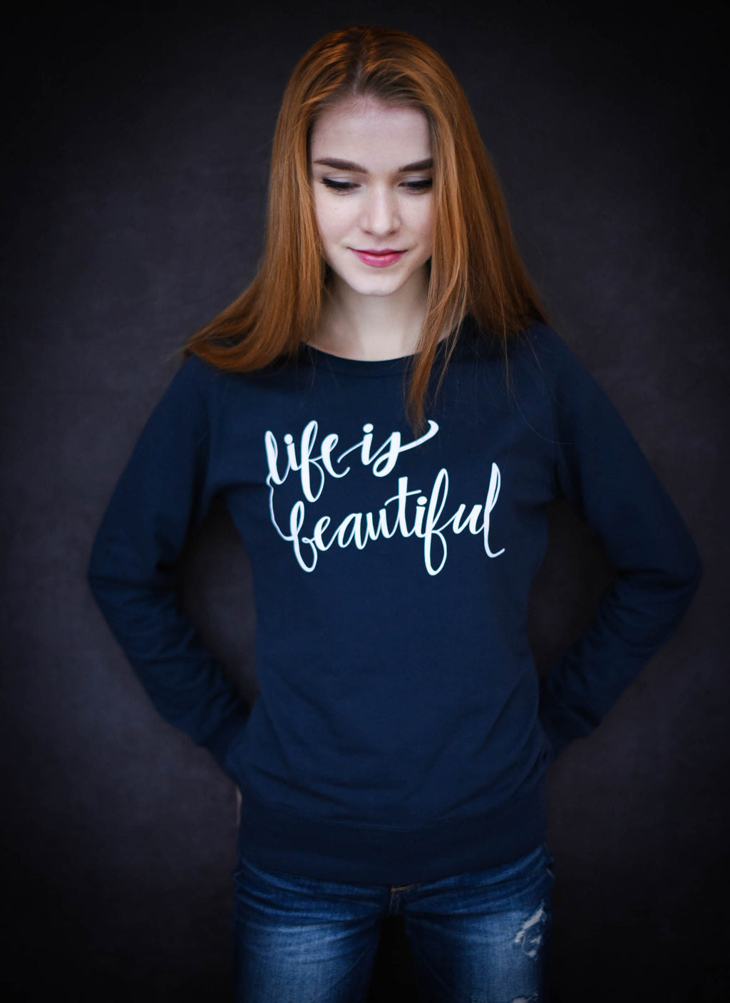 Life is Beautiful - Ethical Organic Modern Loose Fit Women's Sweatshirt