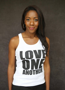 Love One Another - Ethical Organic 100% Cotton Racerback Vest