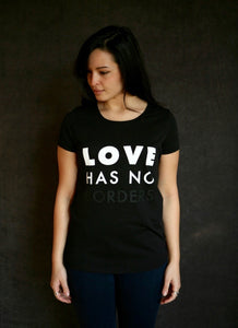 Love Has No Borders - Ethical Organic Cotton Fitted Women's T-Shirt