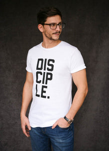 Disciple - Ethical Organic Cotton Rolled Sleeve Men's T-Shirt