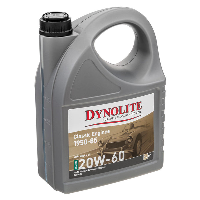 Dynolite Classic Engine Oil 5ltrs  20W-60 engines 1950-1985