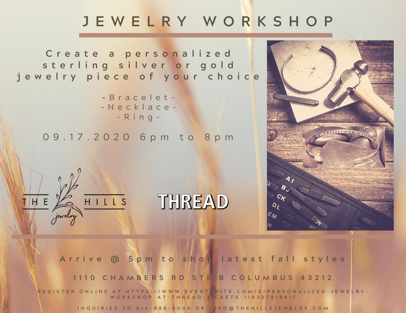 Personalized Jewelry Workshop at THREAD