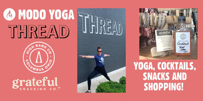 Yoga, Shop, Drink and Snack Local