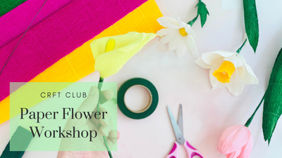 Paper Flower Workshop with CRFT Club