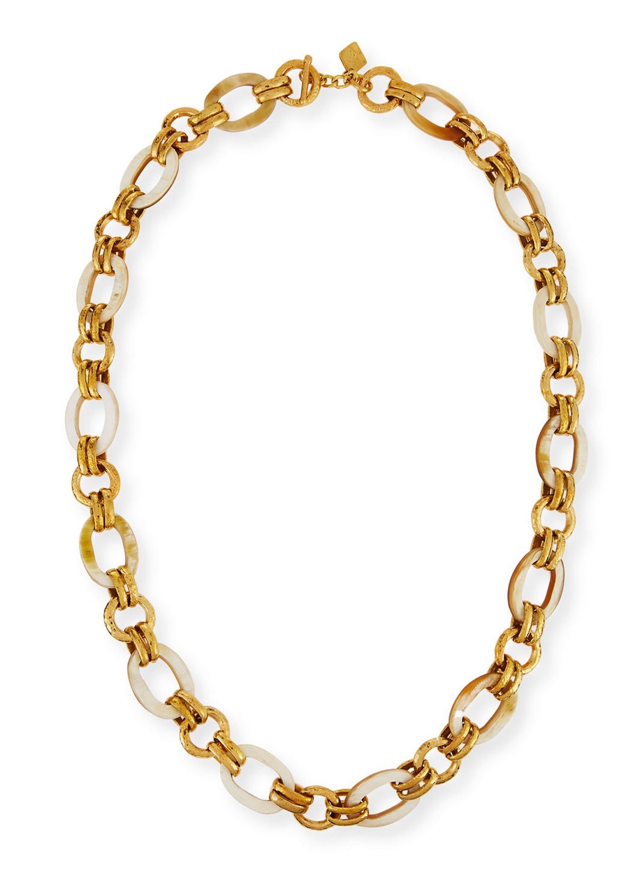 Ashley Pittman Ikulu Dark Horn & Bronze Chain Necklace, 36