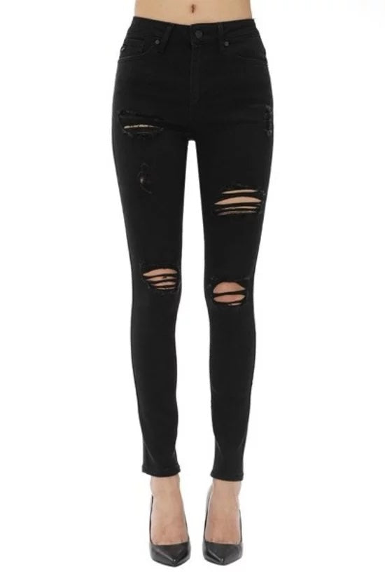 KANCAN HIGH RISE DESTROYED SKINNY JEANS