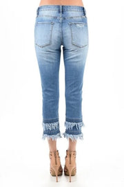 KANCAN CROPPED TASSEL GIRLFRIEND JEANS