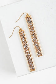 GLITTER BAR EARRINGS