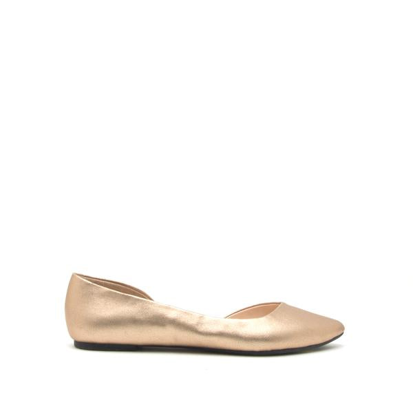 PIKA METALLIC GOLD OPEN SHANK FLATS