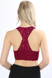HOURGLASS LACE BLALETTE WITH FULL MESH LINING