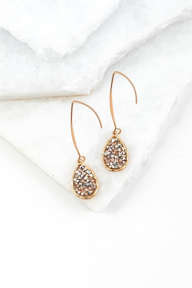 GLITTER TEAR DROP EARRINGS