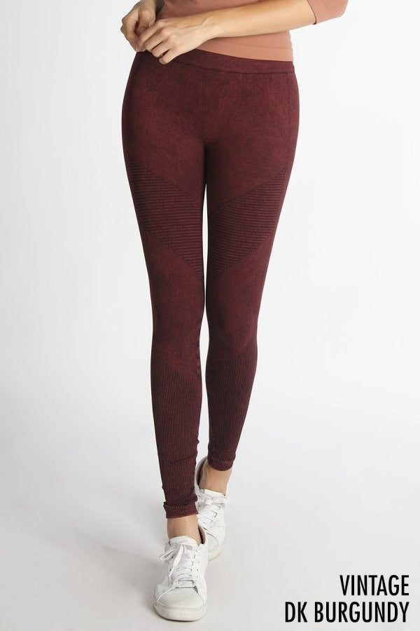 RIBBED KNIT LEGGINGS