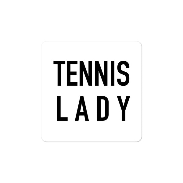 TENNIS LADY sticker