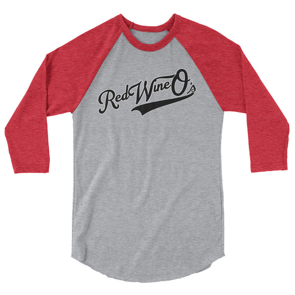 Red Wine-O's team raglan shirt