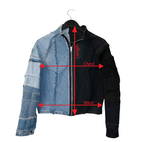 how to measure a denim jacket