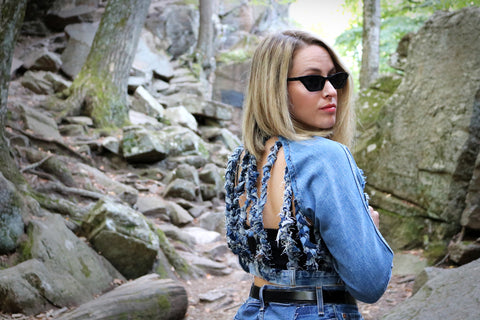 #REMIXbyStevieLeigh sustainable denim jacket