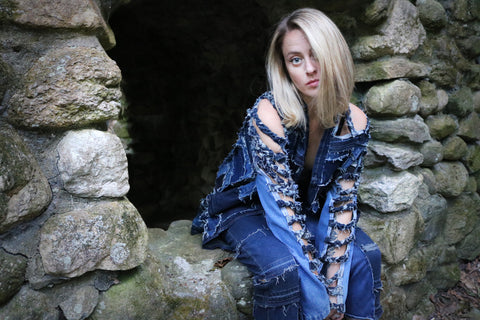 #REMIXbyStevieLeigh upcycled denim jacket