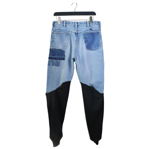 Division St. - Genderless Upcycled Jeans Joggers remix by stevie leigh