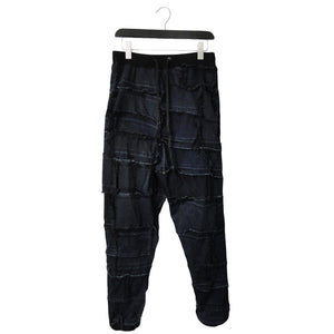 upcycled denim joggers